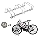 TOYEEKA 3 Bicycle Rack Adjustable Storage Parking Garage