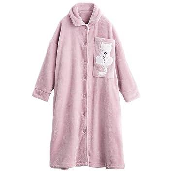 Pijama Holgado para Mujer, Bata de baño de Manga Larga y Falda de Lujo para Mujer con Bata de baño. (Color : Pink, Tamaño : Metro): Amazon.es: Hogar
