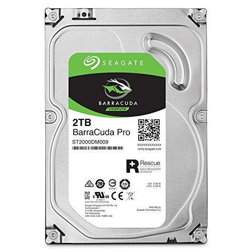 Seagate BarraCuda Pro SATA HDD 2TB 7200RPM 6Gb/s  256MB Cache 3.5-Inch Internal Hard Drive for PC/ Desktop Computers System All in One Home Servers Direct Attached Storage (DAS) (ST2000DM009)