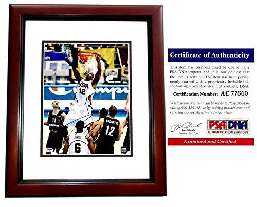 Dwight Howard Signed - Autographed TEAM USA 11x14 inch Photo MAHOGANY CUSTOM FRAME - Atlanta Hawks - PSA/DNA Certificate of Authenticity (COA) ()