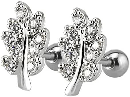 Delicate Stainless Steel Sparkling Cubic Zirconia Multi-style Cartilage Tragus Helix Ball Stud Earring