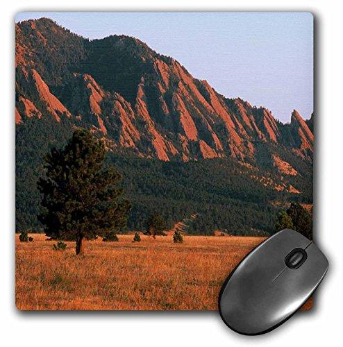 3dRose Sandy Mertens Colorado - Black Ridge Canyons Wilderness Flatirons in Summer - MousePad (mp_26254_1)