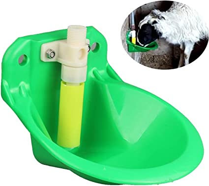 Automatic Sheep Water Bowl Copper Cattle Drinker Valve Animal Dispenser Farm Cup