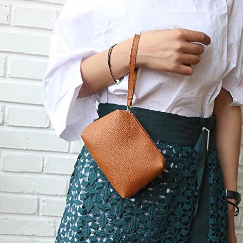 à Coloré Petit Mode TM bandoulière Messenger Sac Femme à main brown sac main carré Portefeuille paquet sac à UzrwBxYzn8