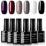 Gellen Classic Elegance Colors UV Gel Nail Polish Set, Pack of 6 Colors