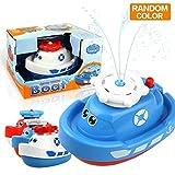 Joyfun Toys for Boys 3 Year Old Minus, Bath Toys Floating Squirt Ship Boat Swimming Pool Bathtub Beach Toys for Kids Gifts JF-SWJ-Boat Random Color