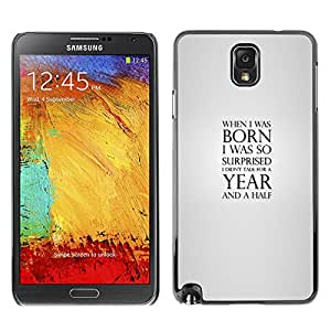 EJOY---Cubierta de la caja de protección la piel dura para el ** Samsung Note 3 N9000 ** --Cuando nací