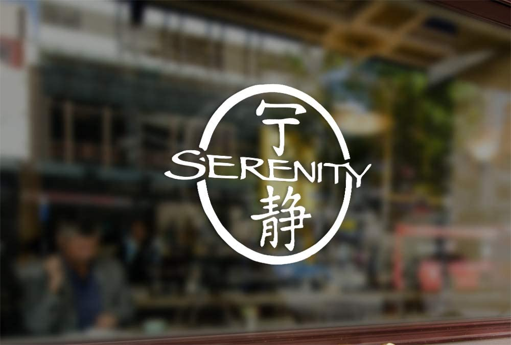 25 Centimeters Serenity Title Firefly Vinyl Stickers Funny Decals Bumper Car Auto Computer Laptop Wall Window Glass Skateboard Snowboard