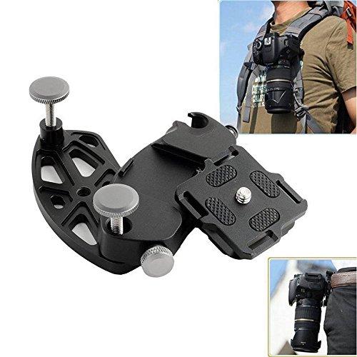 Metal Quick Release Camera Waist Belt Strap Buckle Button Mount Clip for DSLR GoPro ()