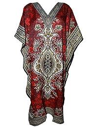 Odishabazaar Womens Plus Size Boho Hippie Dashiki Print Kaftan Dress