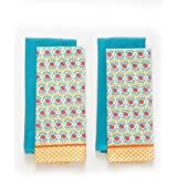 The Pioneer Woman 4 Piece Daisy Chain Kitchen Towel Set