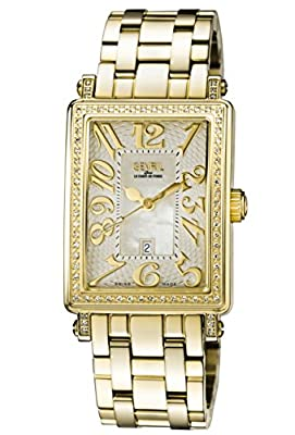 Gevril Woman's 'Ave Of Americas Mezzo' Quartz and Stainless Steel Diamond Gold-Toned Watch by First SBF Holding Inc.