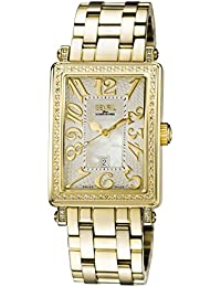 Woman's 'Ave Of Americas Mezzo' Quartz and Stainless Steel Diamond Gold-Toned Watch