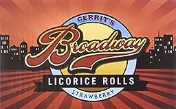 Gerrit\'s Broadway Licorice Rolls Strawberry 24 Count