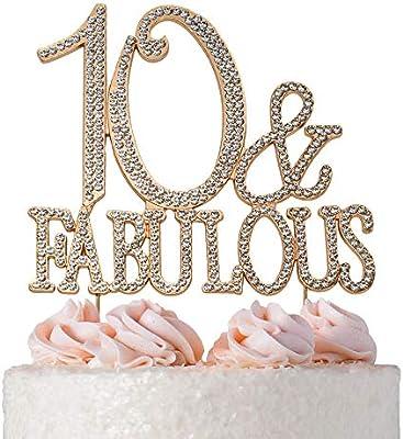 Amazon.com: Decoración para tarta de 50 aniversario de oro o ...