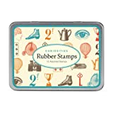 Cavallini Papers-Assorted Rubber Stamps, Curiosities, Set of 12