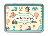 #2: Cavallini Papers Assorted Wooden Rubber Stamps, Curiosities, Set of 12