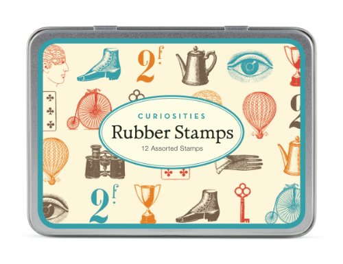 assorted wooden rubber stamps