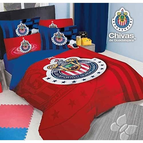 Cheap JORGE'S HOME FASHION INC NEW PRETTY COLLECTION CLUB CHIVAS DE GUADALAJARA ORIGINAL LICENSE TEENS BOYS COMFORTER SET 2 PCS TWIN SIZE