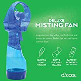 "O2COOL Deluxe Misting Personal Fan, 2.5"", Dark Blue"