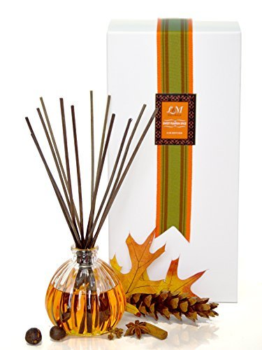 - L&M Naturals Sweet Spiced Pumpkin Reed Diffuser in Decorative Pumpkin glass~ Great aromatherapy Pumpkin aroma that will fill your space with Fall fragrance~