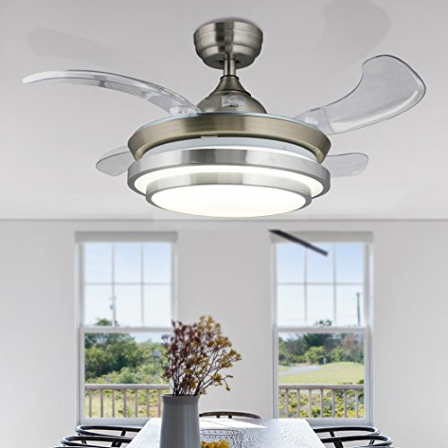 Chrome Diameter Brushed Ceiling Fan - 42