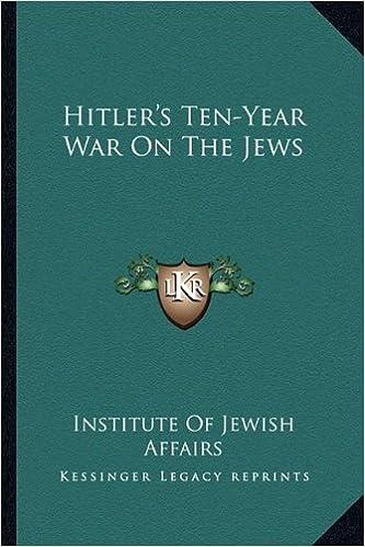 Book Hitler's Ten-Year War on the Jews