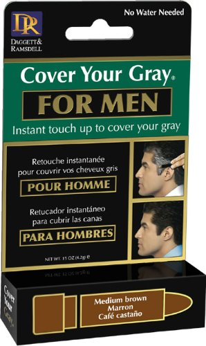 Stick Men Color (Cover Your Gray Men's Touch-Up Stick, Medium Brown, 0.15 Ounce)