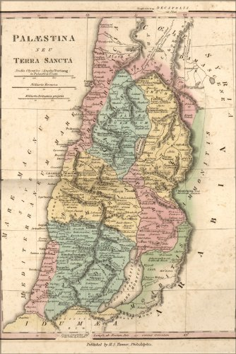 20x30 Poster; Map Of Israel Palestine Holy Land In Antiquity 1826