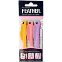 Feather Flamingo Facial Touch-up Razor (3 Razors X 3 Pack)