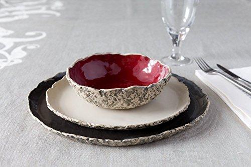 Stunning handmade organic dinnerware setting, Large ceramic dinner set ,Stoneware dinner setting, Wedding gift, Birthday gift. Natural color glaze var…