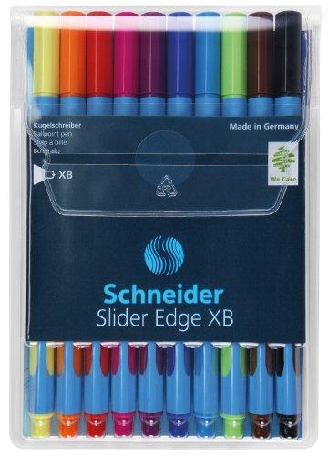 Schneider 152290 Slider Edge XB Kugelschreiber-Etui mit 10 Stück sortiert