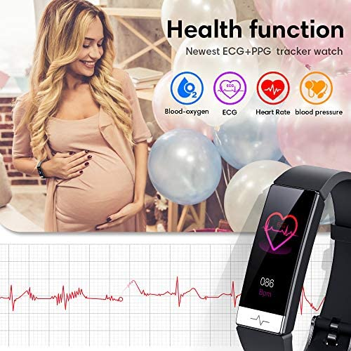 GOGUM Fitness Tracker, Heart Rate Monitor IP68 Waterproof Activity Tracker HRV Health Watch SPO2 Blood Oxygen Blood Pressure with Sleep Monitor and 11 Sport Modes for Women and Men 3