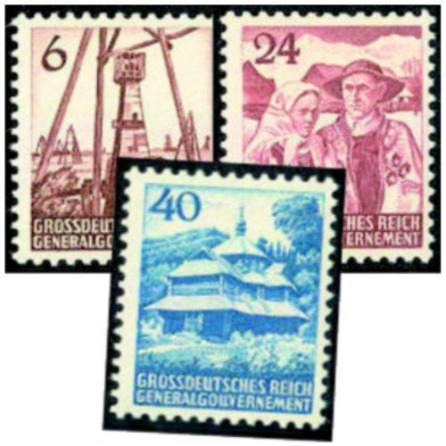 Goldhahn Generalgouvernement Nr. I-III postfrisch  geprüft Briefmarken Briefmarken Briefmarken für Sammler 6066ed