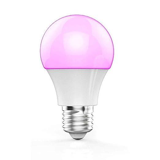 Ryham 4.5W RGB Bombilla LED de luz, E27 Regulable Lámpara Mágica, Cambia de