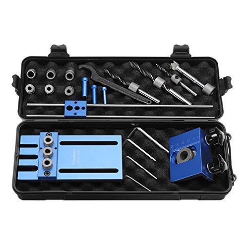 08450 Aluminum Alloy Dowelling Jig Set Wood Dowel Drilling Position Jig Woodworking Tool by SPK603