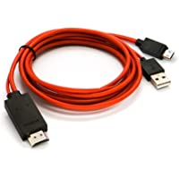Kingsford Micro USB Mhl to Hdmi Cable with 1080P Output for Apple iPhone and Android Smartphones