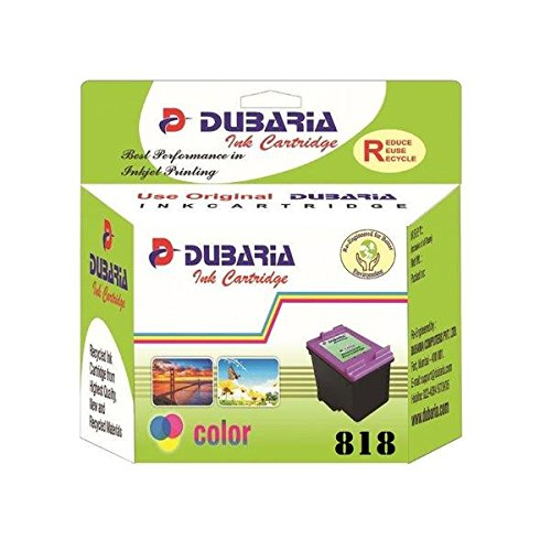 Dubaria Compatible Ink Cartridges 818 No. Color for HP Printers