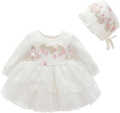 FENICAL Vestido de algodón para niñas, Falda de Flores de ...