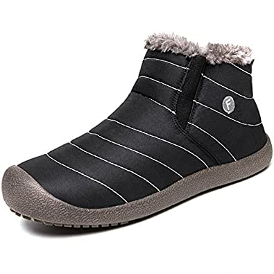 Amazon.com   JACKSHIBO Mens Womens Snow Boots Waterproof