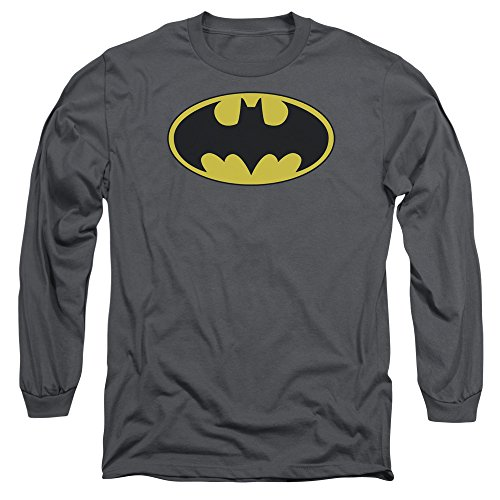 Batman DC Comics Classic Bat Logo Adult Long Sleeve T-Shirt Tee