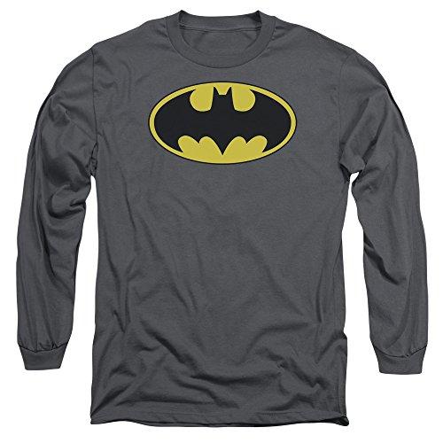 Batman DC Comics Classic Bat Logo Adult Long Sleeve T-Shirt Tee ()
