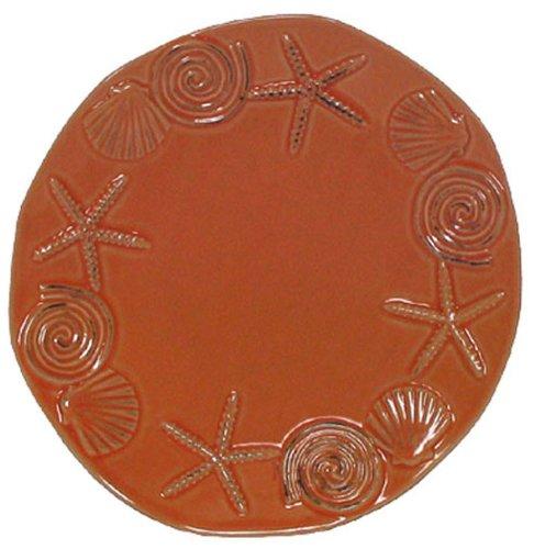 Stoneware Sea Life Coral Salad Plate, Set of 2 - 8