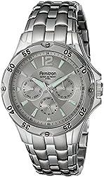 Armitron Men's 20/4964SVSV Multi-Function Silver-Tone Bracelet Watch