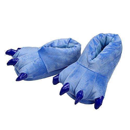 Artigli Lath Blau Zampa Peluche pin Animale Scarpe Pantofole Halloween Cosplay Costume D29YWHIE
