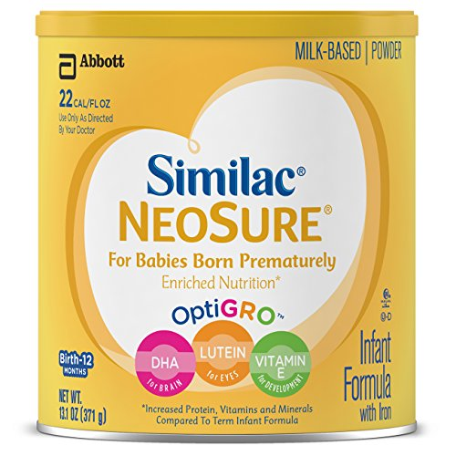 Similac NeoSure Infant Formula with Iron, For Babies Born Prematurely, Powder, 13.1 ounces (Pack of - Iron Length Standard