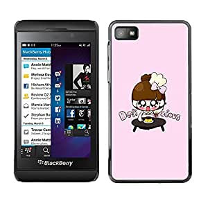 LECELL -- Funda protectora / Cubierta / Piel For Blackberry Z10 -- Cute Japanese Anime Girls --
