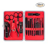BESTOPE 16PCS Manicure Pedicure Set Nail Clippers Set,Stainless Steel Professional Nail Scissors Grooming Kit for Facial, Cuticle and Nail Care with Portable Travel Case