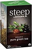 Cheap Steep by Bigelow Organic Pure Green Tea 20 Count (Pack of 6) Organic Caffeinated Individual Green Tea Bags, for Hot Tea or Iced Tea, Drink Plain or Sweetened with Honey or Sugar
