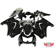 VITCIK (Fairing Kits Fit for Kawasaki EX250R Ninja 250 EX-250R ZX250 2008 2009 2010 2011 2012) Plastic ABS Injection Mold Complete Motorcycle Body Aftermarket Bodywork Frame (Black) A034
